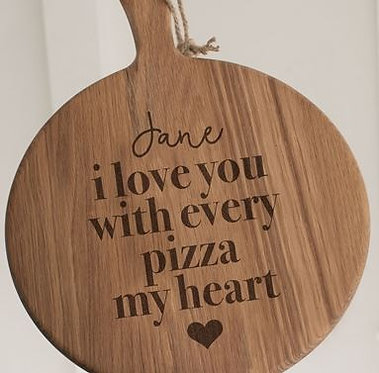 engraved pizza paddle