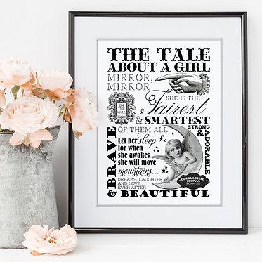 vintage word art print