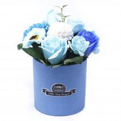 blue flower soap bouquet