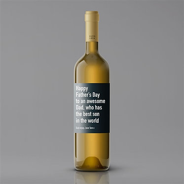 fathers day personalised wine label