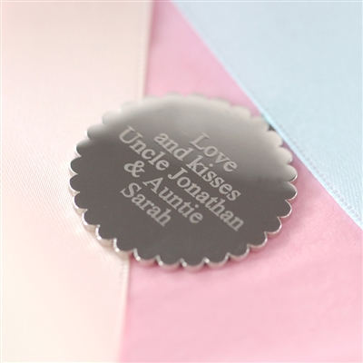 Engraved Scallop Pendant