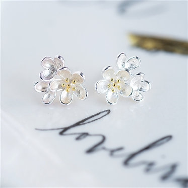Posie Stirling Silver Stud Earrings