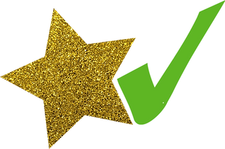 Gold Star and Green Tick.png