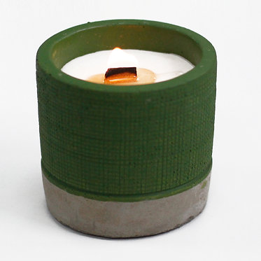 herbs and sea moss wood wick candle
