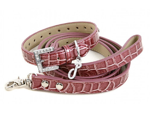 wine dog collar and leash