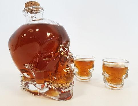 skull drink decanter