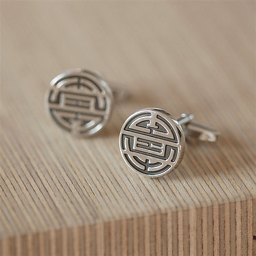 chinese symbol for long life cufflinks