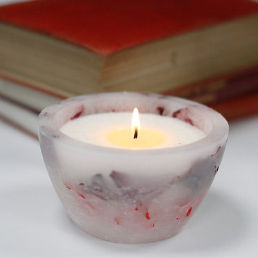 rose garden enchanted candle