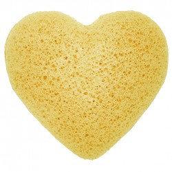 heart peach konjac sponge