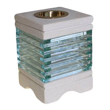 stone and glass oil burner