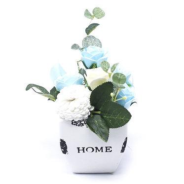small flower pot soap flowers