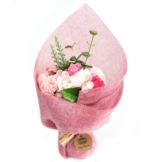 standing soap flower bouquet pink 1