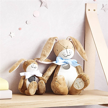 Big and small Nut Brown Hare soft toys