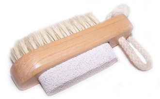 pumice stone and brush