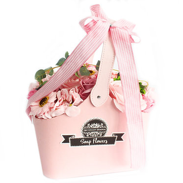pinks basket flowers