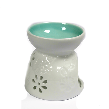 teal colour oil burner