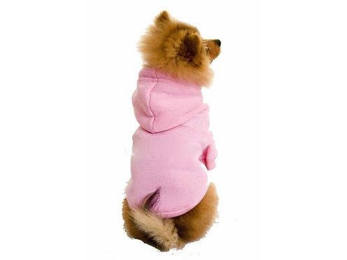 dog hoodie pink