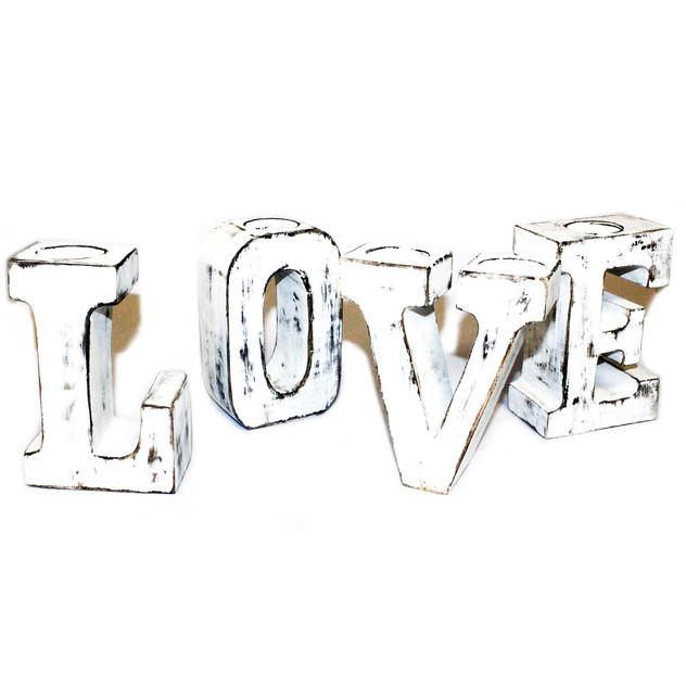 white colour love big letters