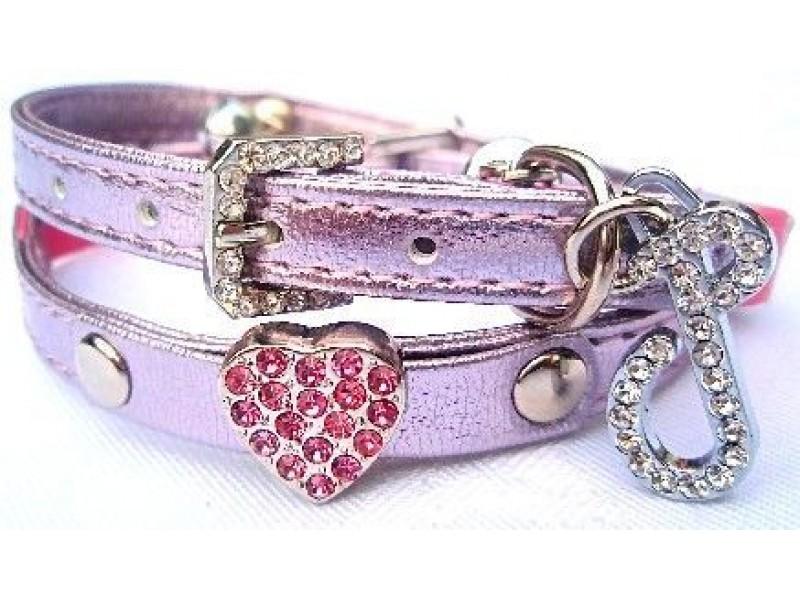 Pink Heart Cat Collar