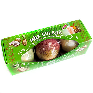 pina colada bath bomb set