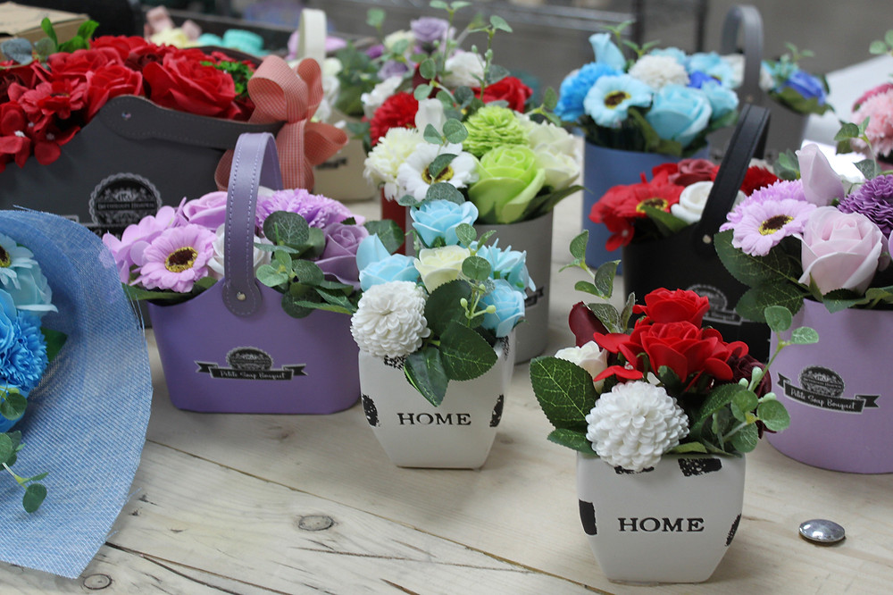 soap flower bouquets