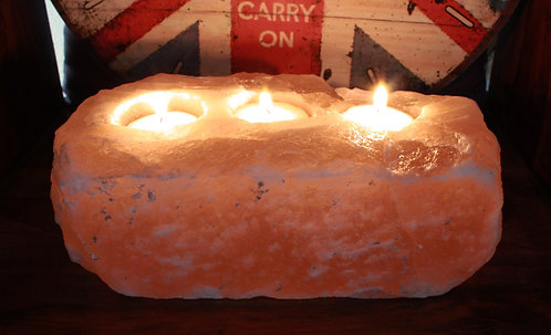 three candle salt rock