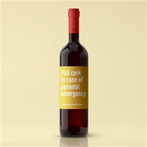 funny message wine label