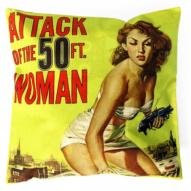 attack of the 50 foot woman movie cushion
