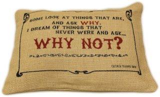 George Bernard Shaw quote cushion