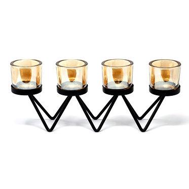 4 tealight holders metal