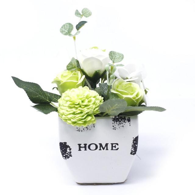 Pastel Greens - petite flower pot 1