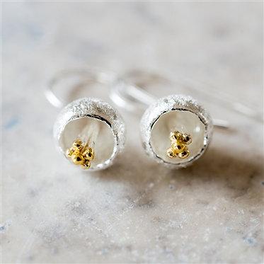 delicate flower drop earrings