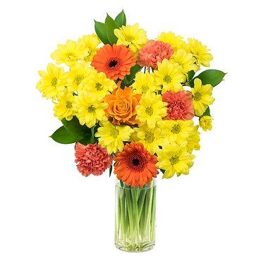 freshly delivered flowers