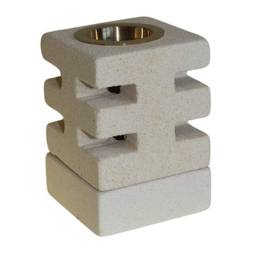 stone and brass oil burner