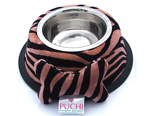 tiger stripe dog bowl