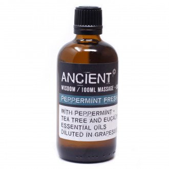 peppermint bath and massage oil