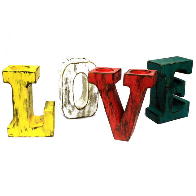 """Assorted Colour Big Letters """"LOVE"""""""