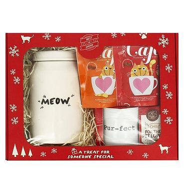 cat christmas gift box