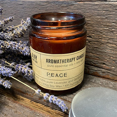 peaceful aromatherapy candles