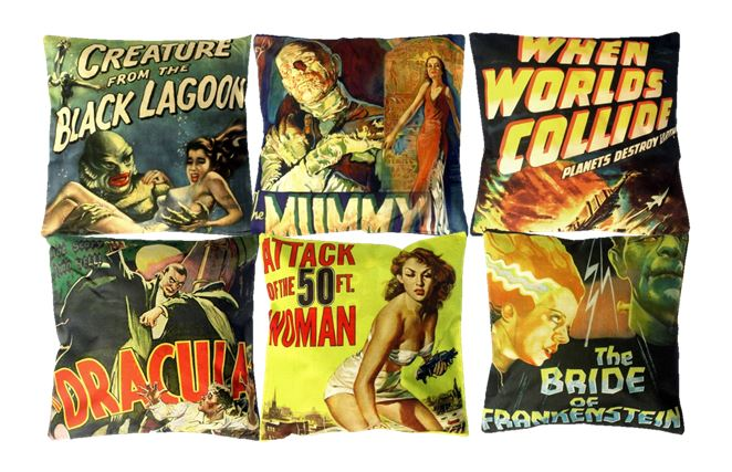 Vintage Horror Cushion Covers