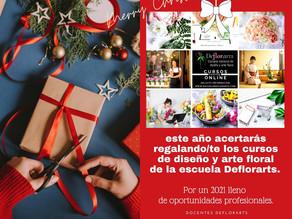 Todavía buscando el regalo perfecto... esta navidad acertarás regalando/te los cursos de Deflorarts