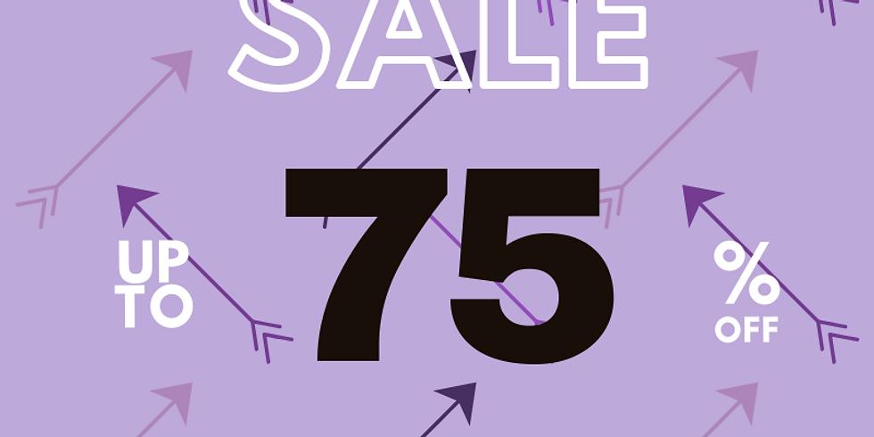 Dec. 27-29: 75% off PURPLE arrow items