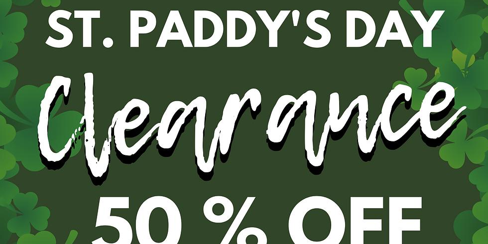 st. paddy's day sale l mar 17 - 21