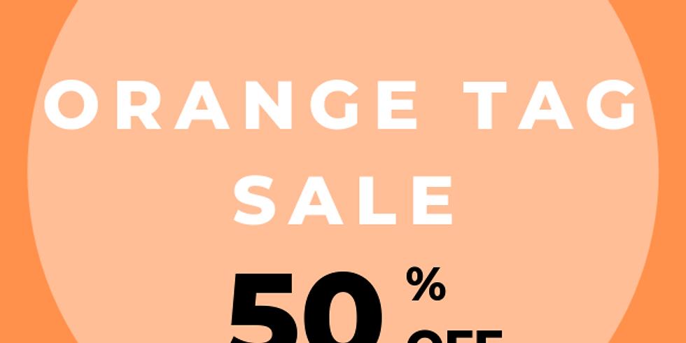 June 4-8  50% off Orange tags