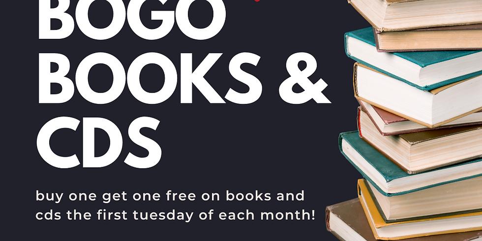 first tuesdays - bogo books & cd's