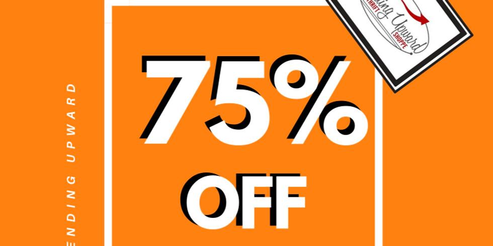 jan 26-30 | 75% OFF ORANGE TAGS