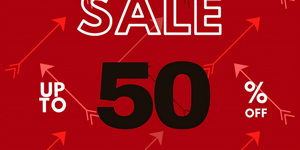 50% off RED arrow items