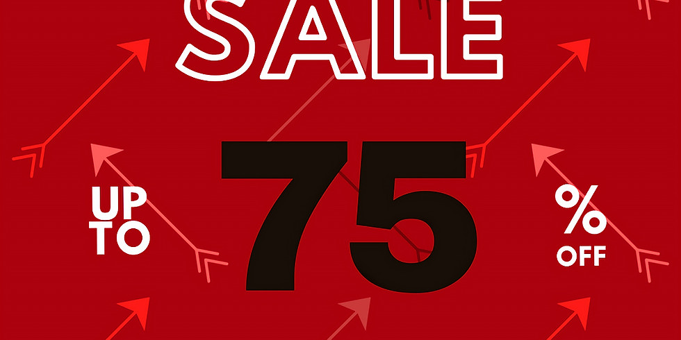 Mar 27-30 75% off Red arrow items sale