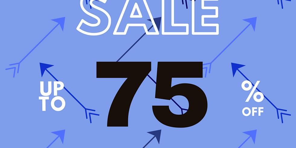 Dec. 12-15 75% off BLUE arrow items