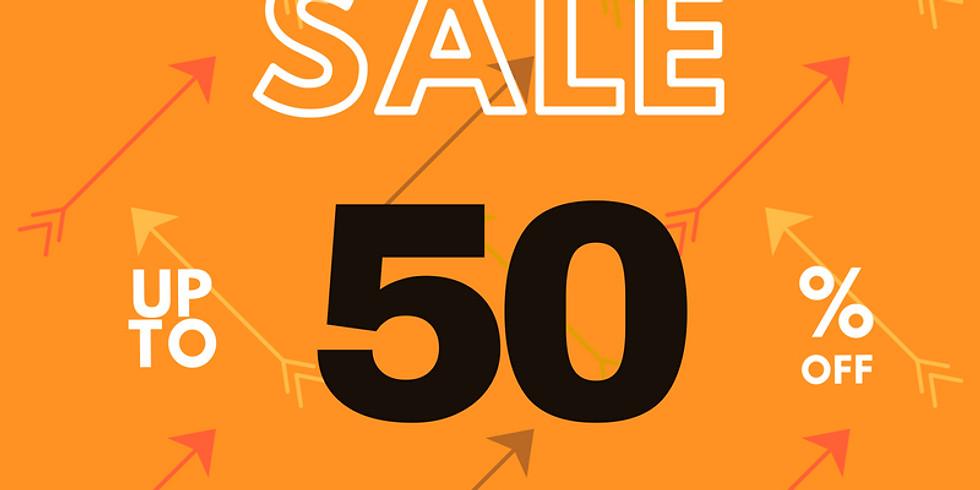Jan 16-19 ORANGE arrow items 50% off